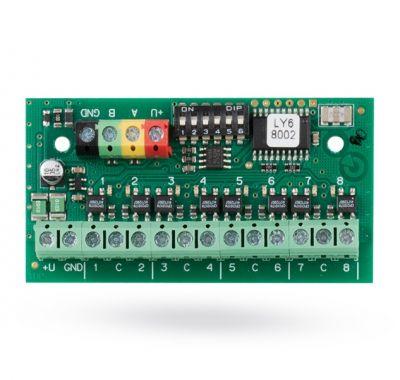 JB-118N - zbernicový 8-kanálový modul signálových relé