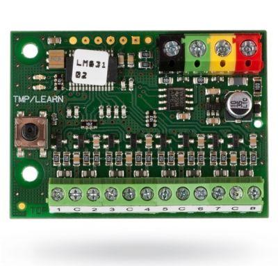JA-118M - zbernicový modul pre pripojenie 8 magnetických kontaktov otvorenia