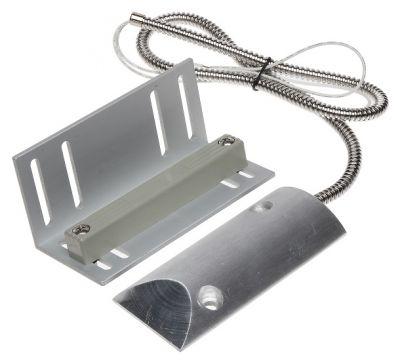 SA-220 - prejazdový kovový magnetický dverný kontakt s pancierovým prívodom (NC)