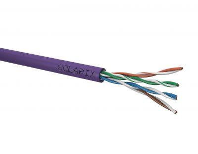Netienený sieťový kábel UTP LSOH CAT5E Solarix, 305m box, vyššia odolnosť voči vznieteniu