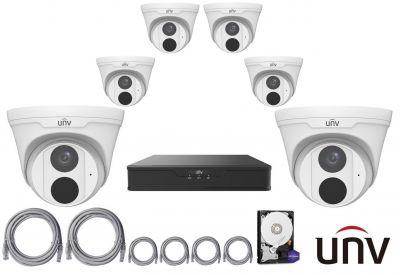 4MPx IP kamerový set UNIVIEW 6+1 (turret)