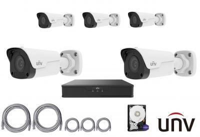 2MPx IP kamerový set UNIVIEW 5+1 (mini tubus)
