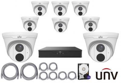 4MPx IP kamerový set UNIVIEW 8+1 (turret)