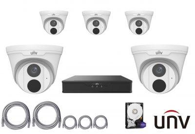 4MPx IP kamerový set UNIVIEW 5+1 (turret)