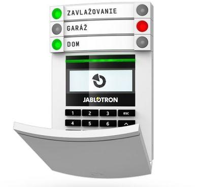 JA-114E - Zbernicový prístupový modul s displejom, klávesnicou a RFID čítačkou