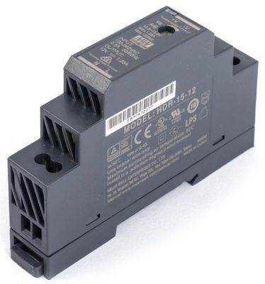 HDR-15-12 - 12V DC/15W zdroj na DIN lištu MEAN WELL