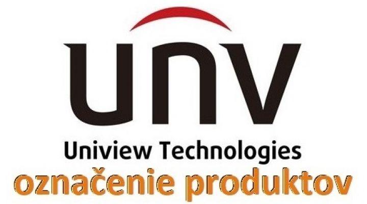 Označenie produktov UNIVIEW