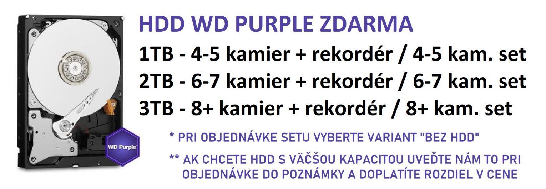 Akcia - HDD WD Purple zdarma pri objednávke cez e-shop
