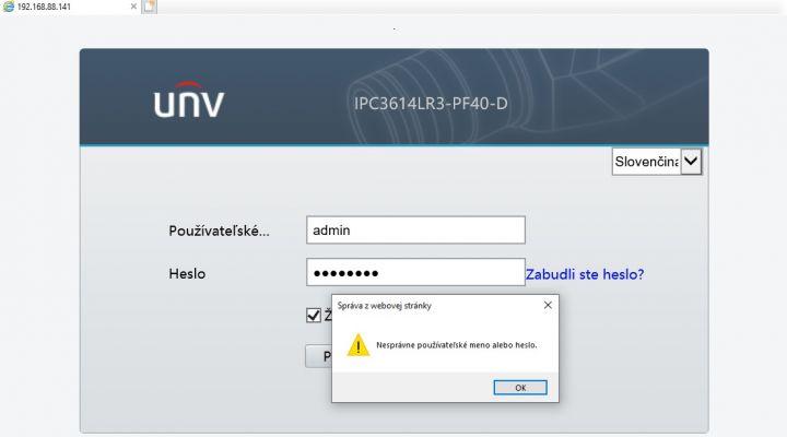 Obnova hesla pre Uniview zariadenie cez EZCloud